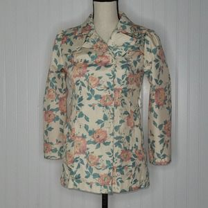 Dollhouse floral trench coat